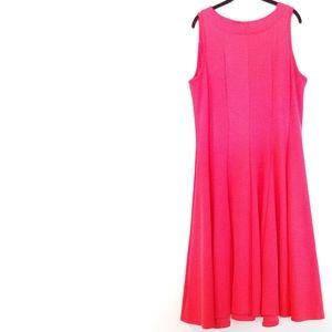 2X Petite Haani Coral Textured Fit & Flare Dress